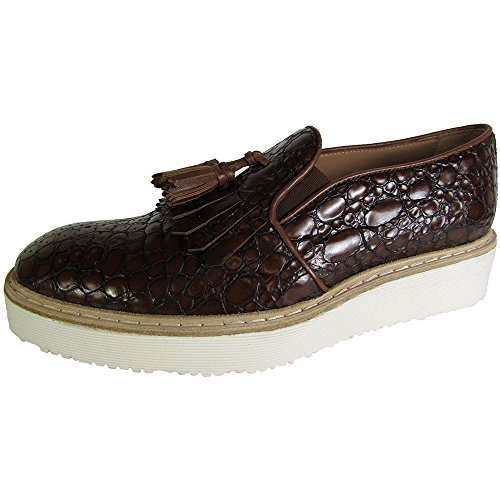 Donald J Pliner Signature Mens Mitch-94 Tassel Loafer Shoes, Brown, US 7.5