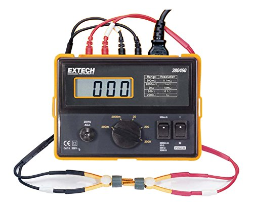 Extech Instruments 380562-NIST High Resolution Precision Milliohm Meter (220 VAC) with NIST, 6.3
