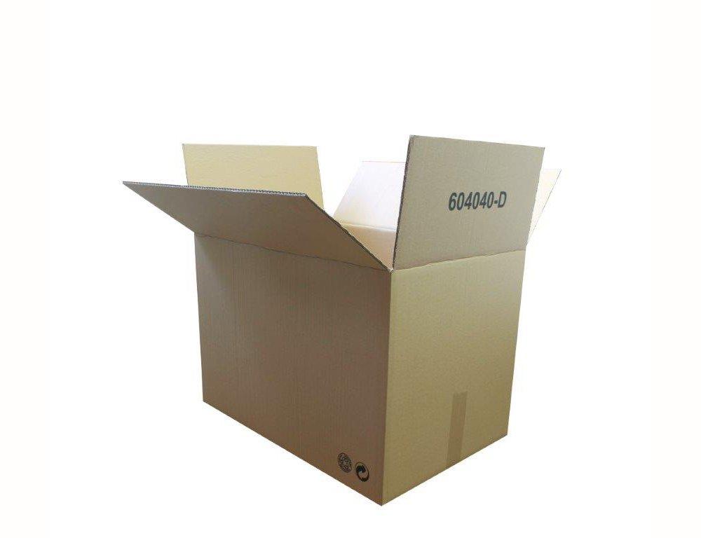 CAJAS MUDANZA 60x40x40 CARTÓN DOBLE. LOTE 10 UNIDADES. MUY RESISTENTES: Amazon.es: Oficina y papelería