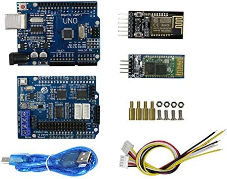SZDoit Bluetooth, WiFi Controller Kit with UNO R3, Motor Driver Board,  DT-06 Module, HC-06 Module for Arduino