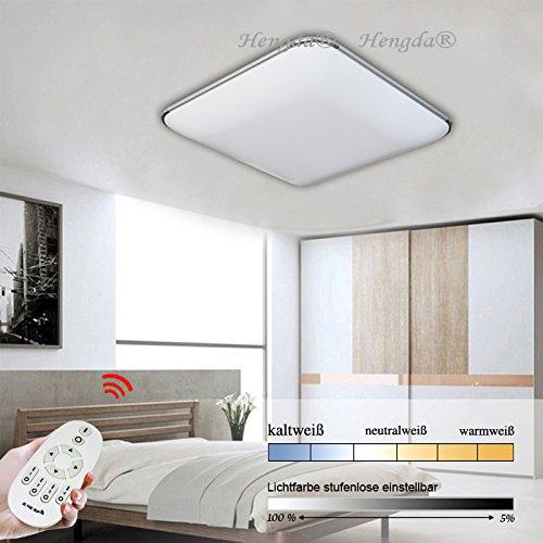Hengda® 64W LED Deckenleuchte Dimmbar 640-5760LM Wohnzimmer Schlafzimmer Wand-Deckenleucht 2700-6500K 85V-265V