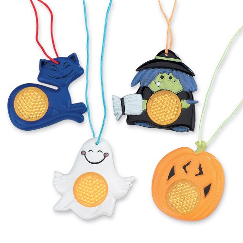 SmileMakers Halloween Reflective Necklaces - 36 Per Pack]()