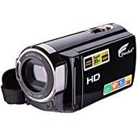 Video Camcorder, Hausbell HDV-5053 FHD Wi-Fi Digital Video Camera, HDMI 1920x1080p 16X Digital Active Zoom Infrared Night Vision Touch Screen Camcorder with 2 Batteries (Black)