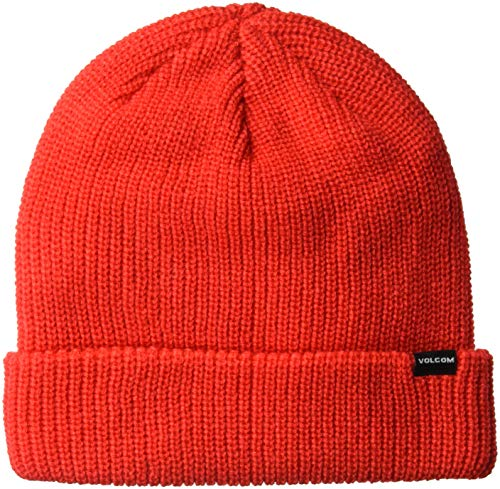Volcom Sweep Skull Fit - Gorro de Nieve para Hombre, Fire Red, Talla única
