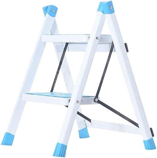 FH Escalera Plegable Para El Hogar, Escalera Metálica De Dos Pasos, Escalera En Espiga, Taburete De Cocina Con Pedestal, Pedal Para Escalera (Color : Blue): Amazon.es: Bricolaje y herramientas