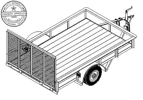 1110 Trailer Plan - 6' x 10' Single Axle 3.5K Utility Trailer DIY How-to Blueprint by Master Plans & Design