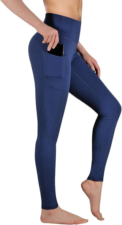 Gimdumasa Pantal/ón Deportivo de Mujer Cintura Alta Leggings Mallas para Running Training Fitness Estiramiento Yoga y Pilates GI188