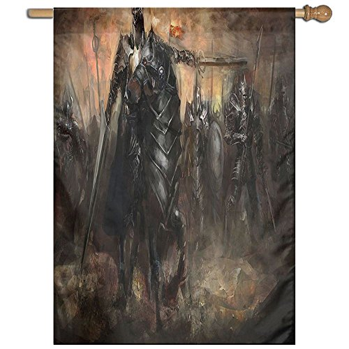 HUANGLING King With Armor Leading His Army In War Evil And Good Ancient City Home Flag Garden Flag Demonstrations Flag Family Party Flag Match Flag 27''x37'' by HUANGLING