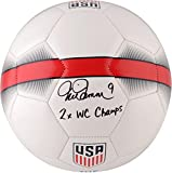 "Mia Hamm Team USA Autographed Nike White Soccer Ball with ""2X WC Champ"" Inscription - Fanatics Authentic Certified"