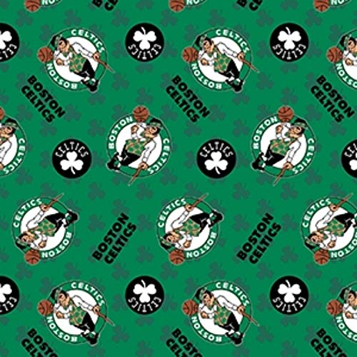 - Fleece Boston Celtics Green Clovers NBA Basketball Fleece Fabric Print by The Yard (A609.04)