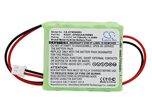 Cameron Sino 700mAh Battery for Honeywell 55111-05, 5800RP Wireless, 5800RP Wireless Repeater, -