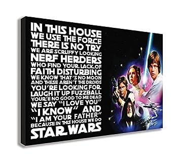 Amazoncom We Do Star Wars Quote Canvas Wall Art 30 X 18 75 X