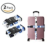 YEAHSPACE 2-Pc Colorful The Office Luggage Strap Set NON-SLIP With TSA Combination Lock For Travel