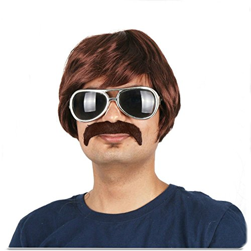 80s Shag Wig - for Guys, Girls, Children - 2 Colors - #1 Too Cool For School Wig (1980's Disco Costumes)