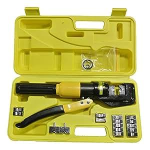 Hydraulic Crimper 10T WireCrimping Tool - Cable Lug TerminalPliersCrimperW/DiesbyMatladin