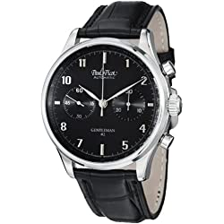 Paul Picot Gentleman Chrono Men's Black Dial Automatic Watch P7056.20.381L002