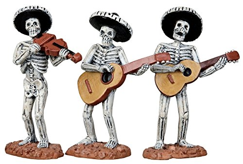 Lemax Spooky Town Skeleton Mariachi Band, Set of 3 #12884
