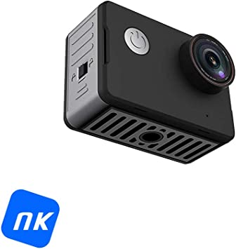 Cámara Deportiva - NK-CA3143-TA, Vídeo 4K Ultra HD, 20 Mpx, WiFi, Pantalla HD 2 Pulgadas, Sumergible 10m, Negro