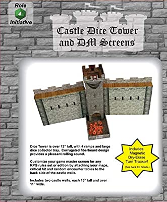 Amazon.com: Castle Keep Dice Tower, 2 Castle Wall DM Screens ...