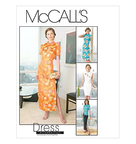 MCCALLS PATTERN M4369 MISSES'/MISS PETITE TOPS, DRESS AND SKIRT IN TWO LENGHTS (Pattern Dress Cheongsam)