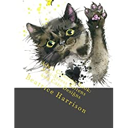 Adult Coloring Book: Anti-Stress Kittens and Cats Designs: Includes Beautiful Cats, Dogs, Elephants, Peacocks and More (Adult Coloring Books)