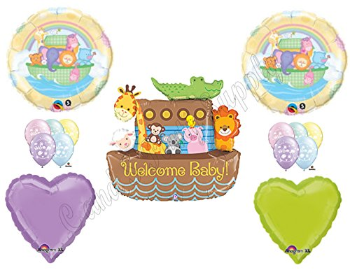 NOAH'S ARK WELCOME BABY SHOWER Balloons Decorations Supplies Duck by Anagram