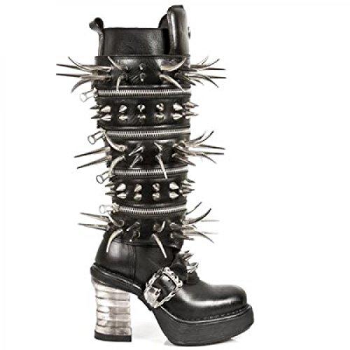 Mujer De Rock Lisa Piel New Zapatilla Alta 4wUdqYYt