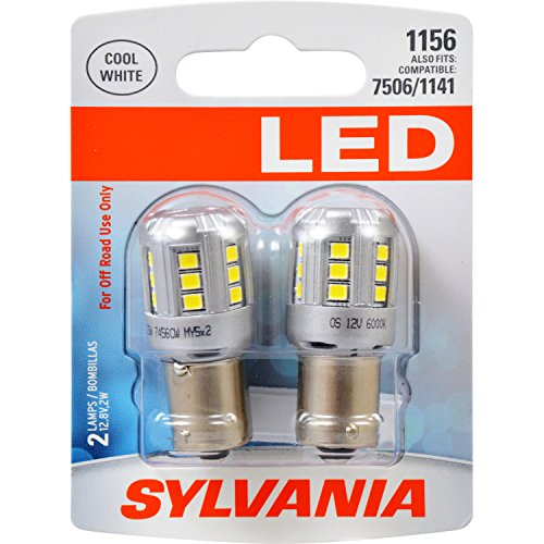 SYLVANIA 1156 White LED Bulb, (Contains 2 Bulbs) by Sylvania