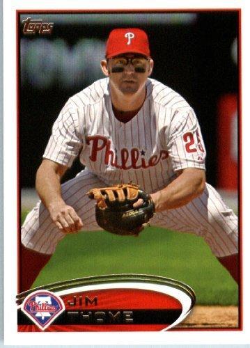 2012 Topps Baseball Card #371 Jim Thome - Philadelphia Phillies - MLB Trading Card ()