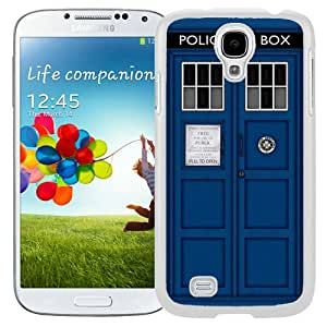 Fashionable Samsung Galaxy S4 I9500 Case ,Unique And Lovely Designed Case With Doctor Who Tardis White Samsung Galaxy S4 Cover Phone Case