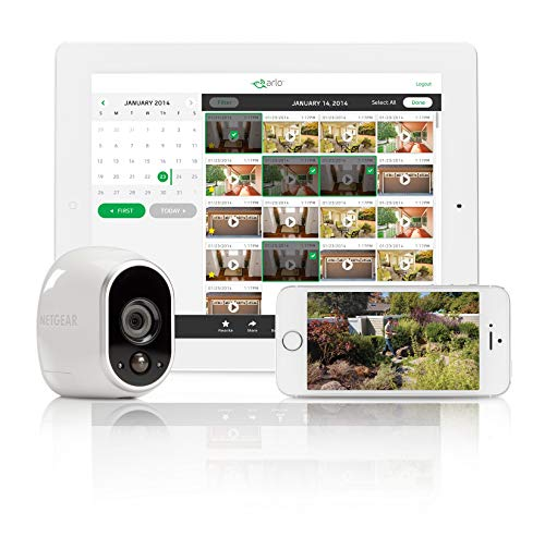 Arlo HD Smart Home Security Camera CCTV system | Wireless WiFi, Night Vision, Indoor or Outdoor, HD, Free Cloud Storage…