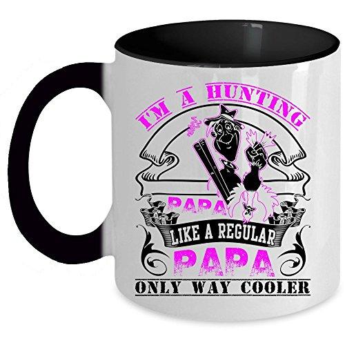 Gift For Hunter Coffee Mug, I'm A Hunting Papa Accent Mug (Accent Mug - Black)