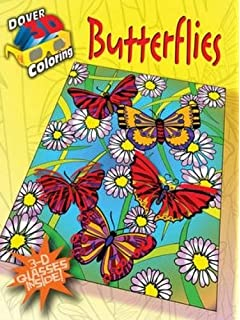 3 d coloring book butterflies dover 3 d coloring book