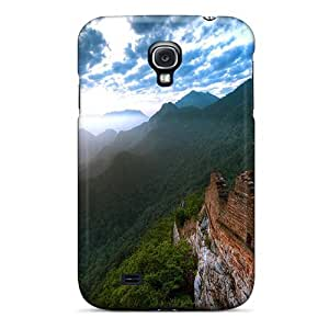 Cute Tpu MichelleNCrawford Ruins On A Mountain Peak In Morning Fog Case Cover For Galaxy S4