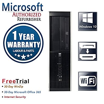 HP Pro 6200 Small Business High Performance Desktop Computer PC (Intel Core i5-2400 3.1GB Quad Core,6GB RAM DDR3,500GB HDD,DVD-ROM,Wi-Fi,DP TO HDMI included,Windows 10 Home 64)(Certified Refurbished)
