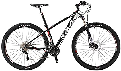 Bicicleta de montaña de SAVA DECK300, de fibra de carbono, 30 velocidades, MTB, rígida, completa, SHIMANO M610 DEORE, color white-29
