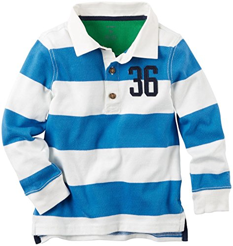 Carter's Baby Boys' Striped Rugby Shirt - Blue - 6 ()