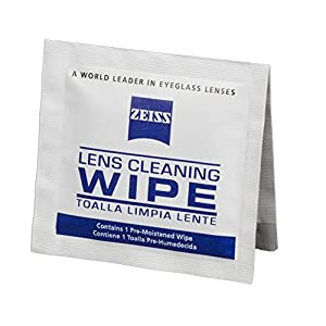 Zeiss Pre-Moistened Lens Cleaning Wipes, 6 x 5-Inches, 100 count
