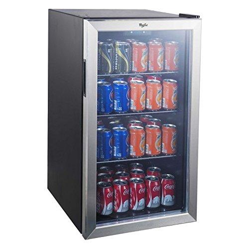 Whirlpool 3.6 Cu. Ft. Mini Refrigerator Beverage Center - Stainless Steel