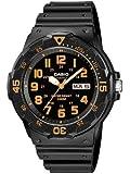 Casio MRW-200H-4BVEF - Reloj analógico de cuarzo para hombre con correa de resina, color negro