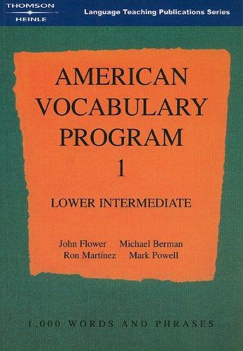 American Vocabulary Program 1: Lower Intermediate Program 1 ...