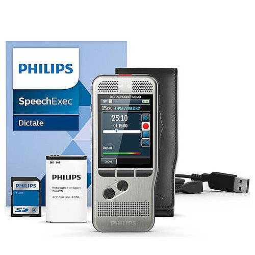 PSPDPM670000 - Philips Pocket Memo Dictation/Transcription Kit (Voice Recorder Speech To Text)