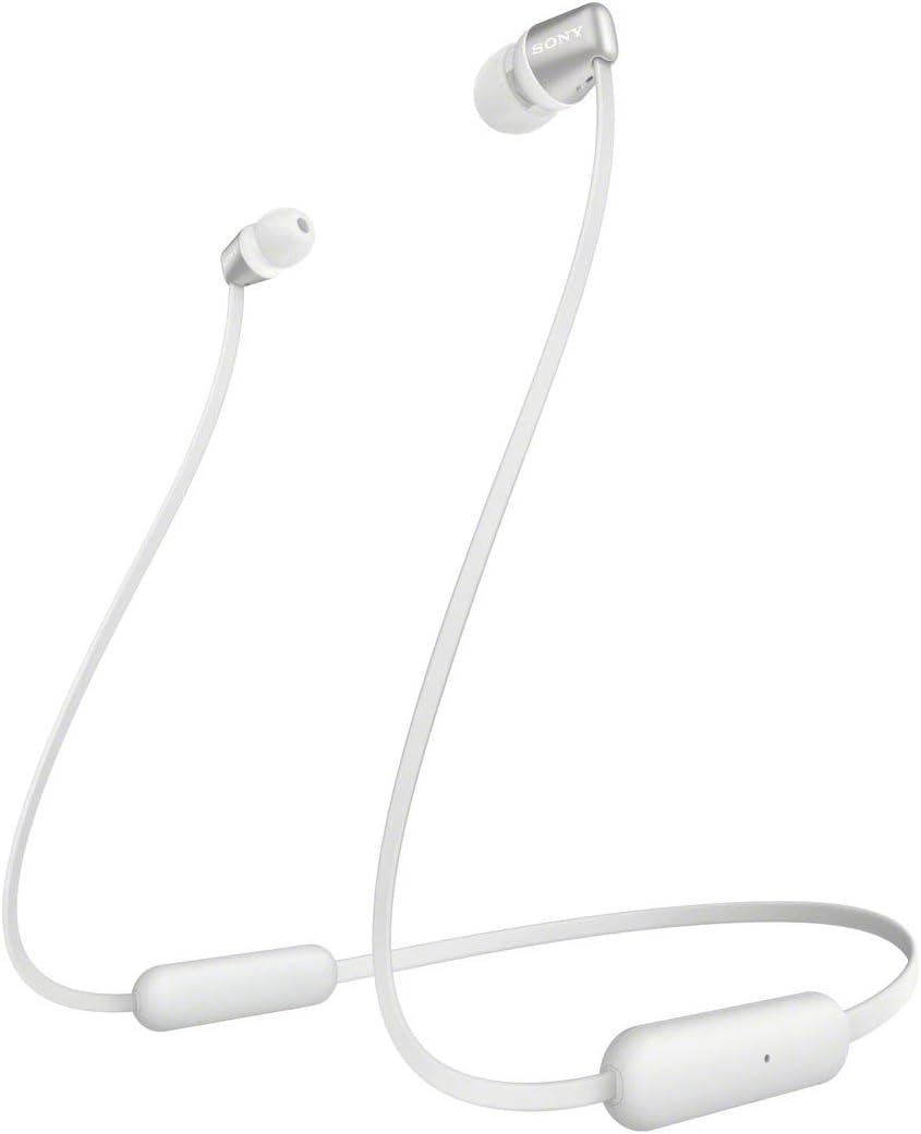 Sony WI-C310 - Auriculares in ear inalámbricos más ligeros y con hasta 15 h de autonomía, blanco