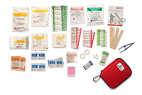 First Aid Kit: Complete Kit, Hard Shell 125 Piece for Office, Home, School, Emergency, Survival, Camping, Hunting, Travel, Car or Automotive and Sports ResQue1st