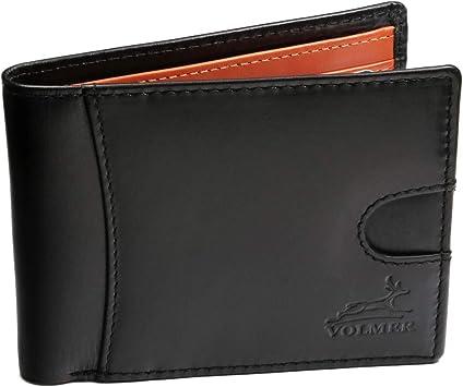 Fa.Volmer ® schlanke Bequeme Geldbörse aus echt Leder mit