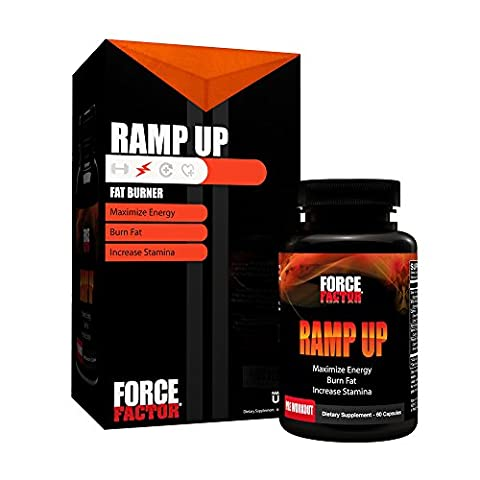 Ramp Up Thermogenic Fat Burner, Weight Loss Supplement to Burn Fat, Boost Energy and Stamina, Reduce Fatigue, & Speed Recovery, Force Factor, 60 (Calorie Burner)