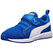 PUMA Carson Runner V Kids Classic Sneaker (Infant/Toddler/Little Kid/Big Kid), Strong Blue/White, 7 M US Toddler