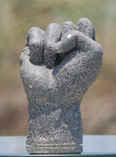 black-power-hand-sculpture-grey-textured-finish-over-white-clay