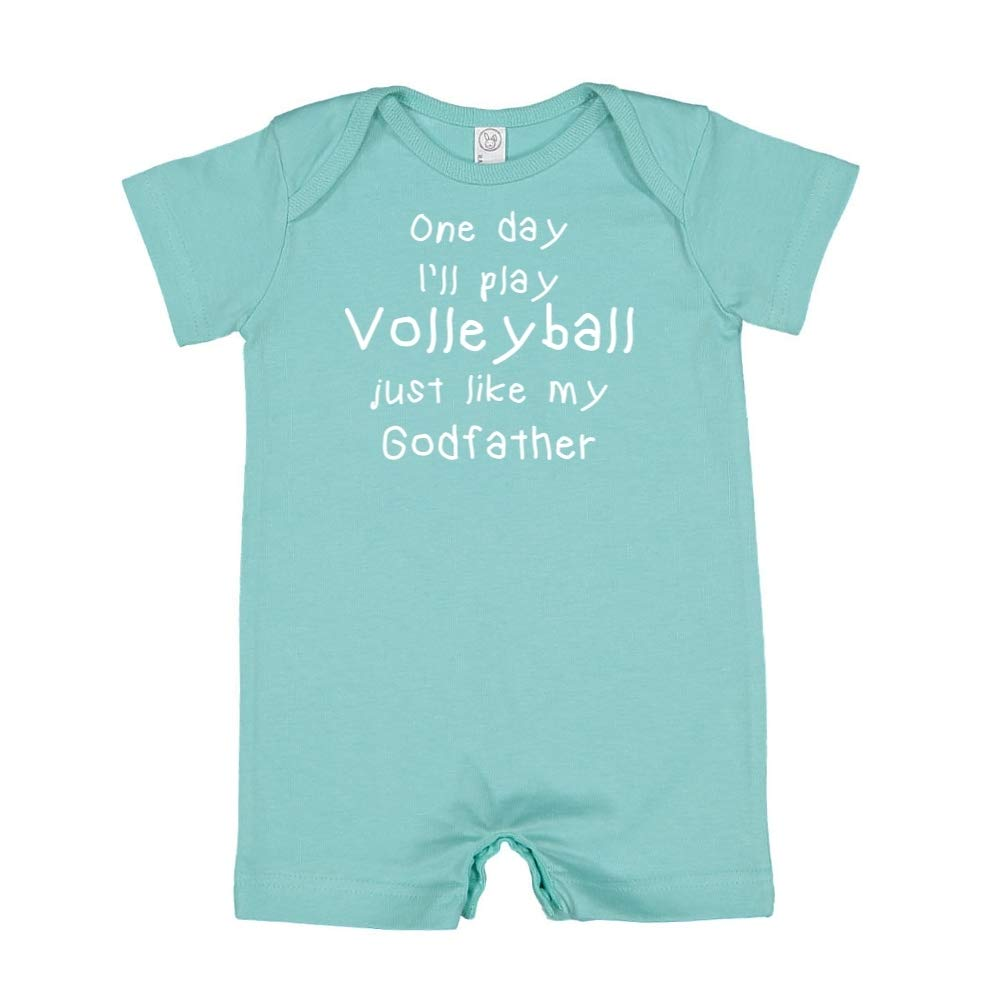 One Day Ill Play Volleyball Just Like My Godfather Baby Romper