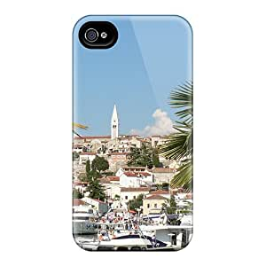Louisopson Perfect Tpu Case For Iphone 4/4s/ Anti-scratch Protector Case (istrian Village 2)